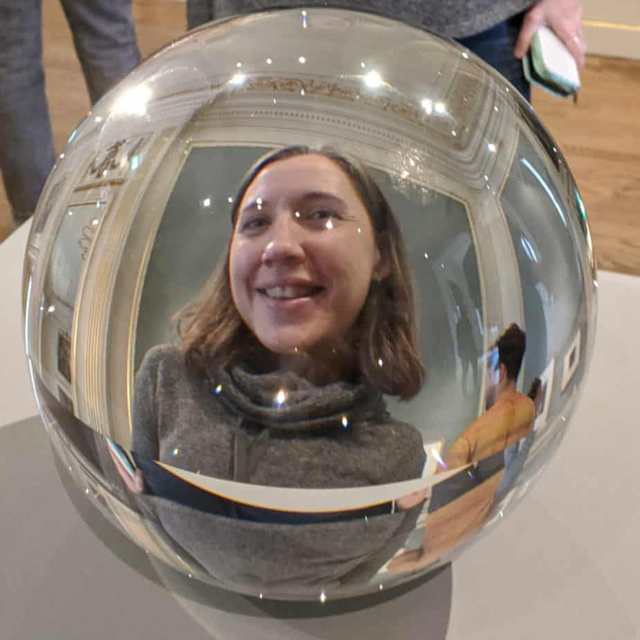 """""""Mandy in"""" Reflecting Sphere"""