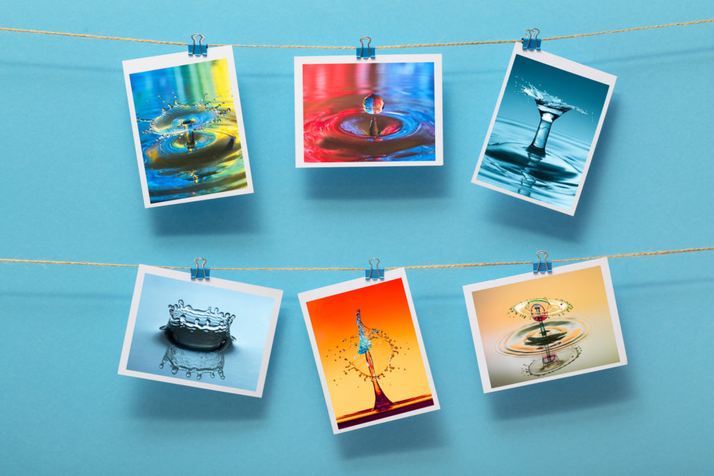 Fine art photography hung from a suspension cord